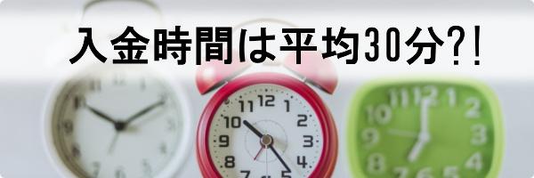 Answer【アンサー】の入金時間は平均30分
