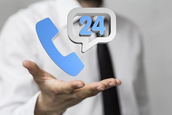 24時間電話受付で営業をしている